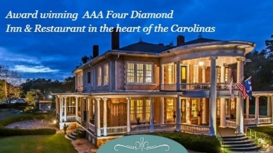 Award winning AAA Four Diamond Inn & Restaurant in the Heart of the Carolinas