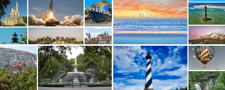 State Tourism Florida South Carolina Georgia North Carolina